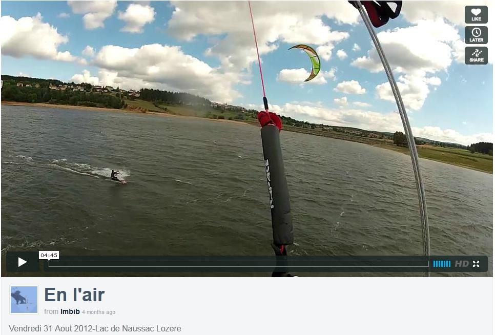 Lac de Naussac - vu d'un kite - vidéo