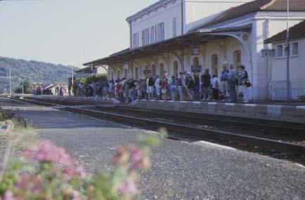 Une Gare Train des Gorges de l'Allier, Langogne, Lozère.
